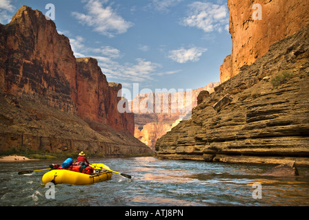 Rafting the scenic Colorado River in the Grand Canyon National Park Arizona - Stock Photo