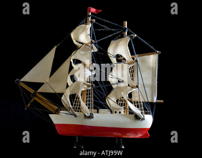 SHIP MODEL FROM AN OLD MAN S PAST - Stock Photo