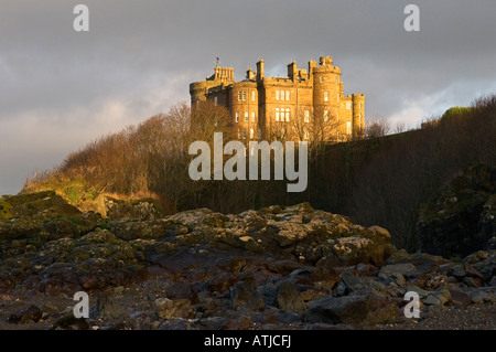 Culzean Castle near Ayr in Ayrshire, Scotland, UK. Designed by Robert Adam in the 18th C. Once home of the Kennedy - Stock Photo
