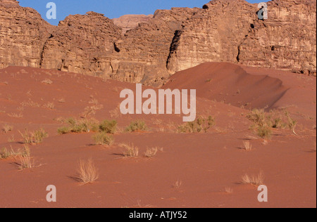A scene of Wadi Rum in South West Jordan - Stock Photo