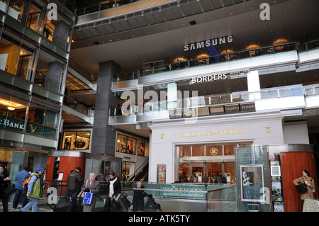 The main lobby of the Time Warner Center at Columbus Circle in Manhattan. - Stock Photo
