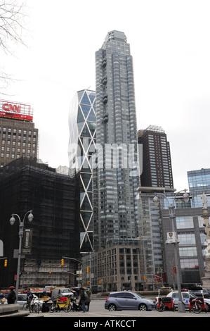 Columbus Circle in Manhattan looking south. - Stock Photo