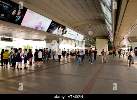 Platform For The Skytrain In Bangkok Thailand South East Asia - Stock Photo