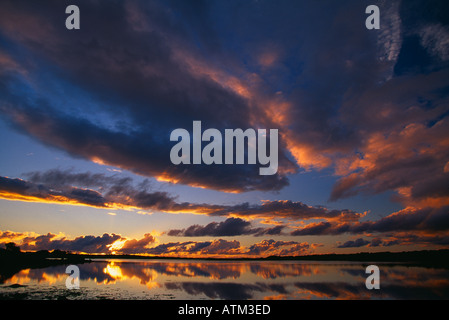 sky reflections over Galway Bay Co Galway Ireland - Stock Photo