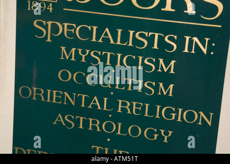 Sign for specialists in mysticism occultism religion and astrology - Stock Photo