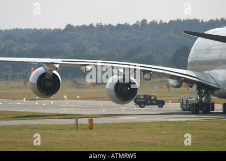 Airbus A380 at Farnborough International Airshow 2006 UK - Stock Photo