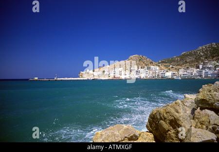 Karpathos Pigadia Town Dodecanese Greek Island Greece Europe - Stock Photo