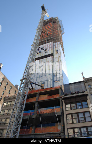 A residential condo under construction on East 23rd street in NYC - Stock Photo