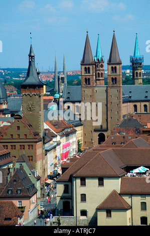 Townhall and cathedral / Wuerzburg - Stock Photo