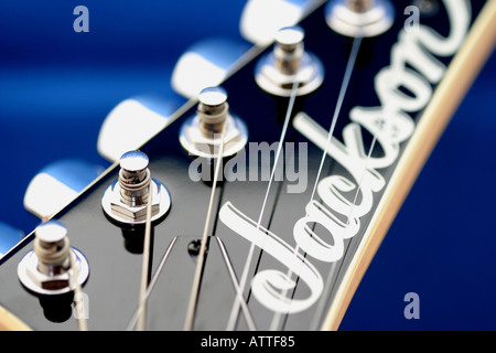 Parts of a Jackson guitar - Stock Photo