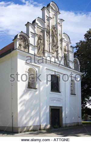 Church of Holy Trinity Built in 1543 by Blazej z Litomysle Vysoke Myto Czech Republic - Stock Photo