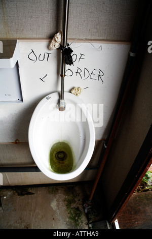 Out of Order Urinal - Stock Photo