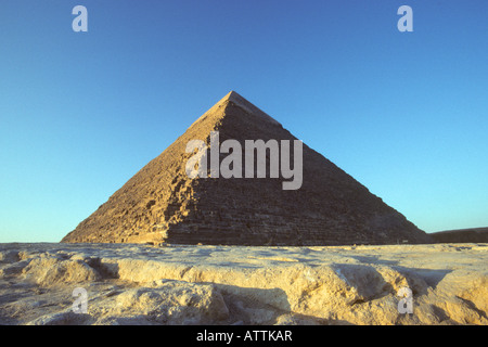 The great pyramid at Giza Egypt. - Stock Photo