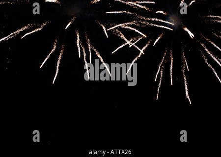 Fireworks 5th November Guy Fawkes Bonfire night UK - Stock Photo