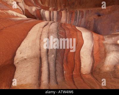 Spectacular colours in Petra Jordan - Stock Photo
