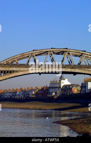 Barnes Bridge over River Thames Barnes SW13 London United Kingdom