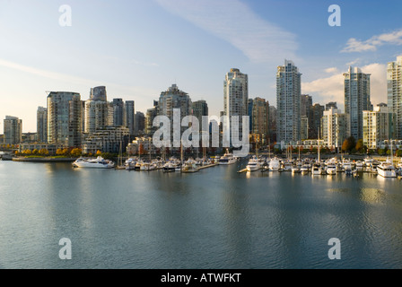 Yaletown Skyline at False Creek Vancouver British Columbia Canada 2007 - Stock Photo
