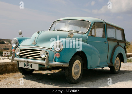 'Morris Minor' 1000 Estate Car with a number plate labelled MoM. - Stock Photo