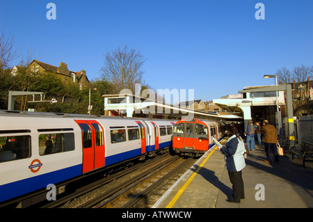 Trains arriving at Ealing Common station W5 London United Kingdom