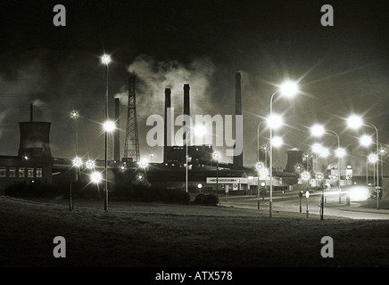 CORBY STEELWORKS NORTHANTS IN THE MID 1970 S THE SITE IS NOW A RETAIL PARK PIC BY JOHN ROBERTSON - Stock Photo