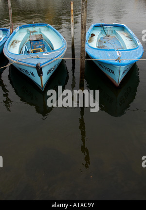 Tied up hire boats. - Stock Photo
