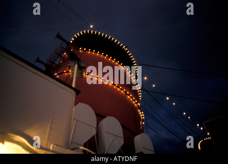 RMS Queen Mary tourist attraction Long Beach California United States of America North America - Stock Photo