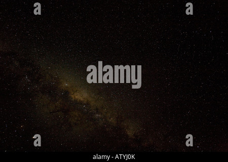 The night sky with the Milky Way visible seen from the Cederberg Mountains desert South Africa - Stock Photo