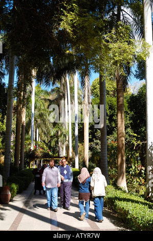 Local People Take A Stroll In The Lush Botanical Gardens, Stocked With  Plants From All