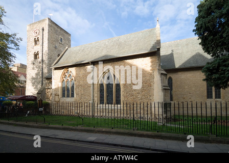 The Saxon Tower of St Michael at the North Gate - Stock Photo