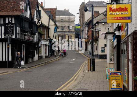 Bridge St. Bishops Stortford Hertfordshire - Stock Photo