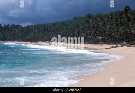 Beach Amanwella Hotel Tongalle Sri Lanka Asia - Stock Photo