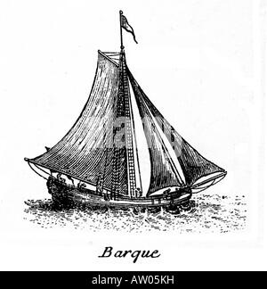 Barque the small vessel sailed by pirates and buccaneers in the Caribbean around 1700 to attack Spanish treasure ships