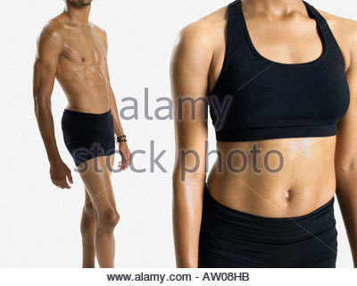 Torsos of two dancers - Stock Photo