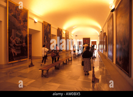 The Royal Monastery of San Lorenzo de El Escorial Madrid Spain Europe - Stock Photo