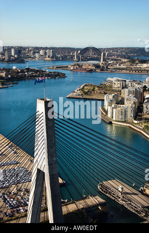 Anzac Bridge, Australia. - Stock Photo