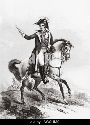 ARTHUR WELLESLEY 1st Duke of Wellington 1769 to 1852 - a contemporary engraving - Stock Photo
