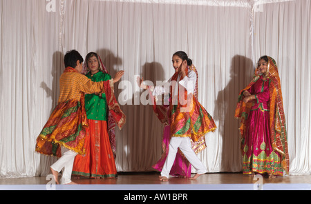 Diwali Wandswoth Town Hall London Play for Diwali - Stock Photo
