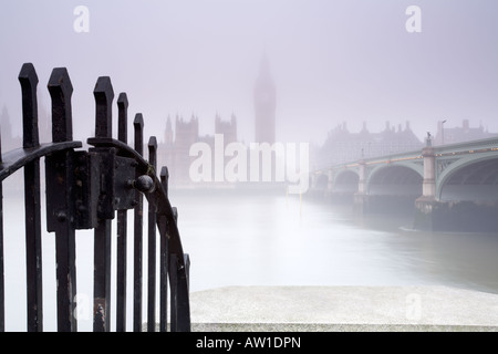 Looking across the Thames river to The Houses Of Parliament from Albert Embankment London city England UK - Stock Photo