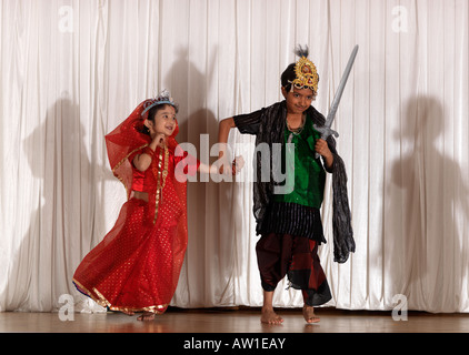 Diwali Wandswoth Town Hall London Scene from the Ramayana - Stock Photo
