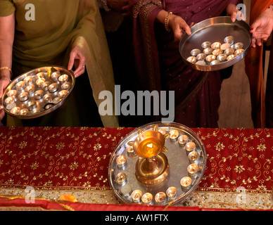 Diwali Wandswoth Town Hall London Arti Ceremony - Stock Photo