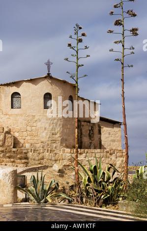 Jordan Mount Nebo near the town of Madaba Franciscan Church - Stock Photo