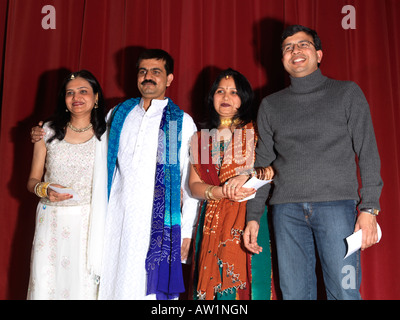 Diwali Wandswoth Town Hall London Parent Performers with Certificates - Stock Photo
