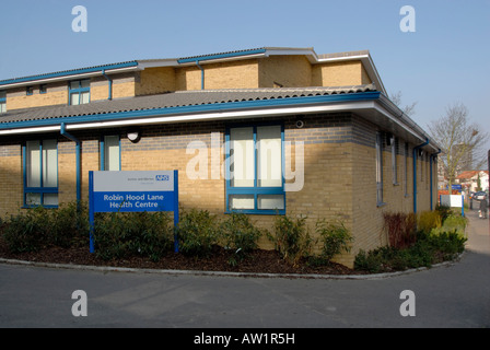 NHS National Health Service health centre in suburban southwest London, England - Stock Photo