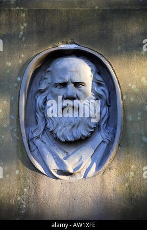 Memorial in Middleton Graveyard to Samuel Bamford political reformer who attended the Peterloo Massacre born in - Stock Photo