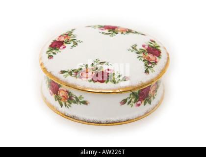 Royal Albert bone china trinket box - Stock Photo