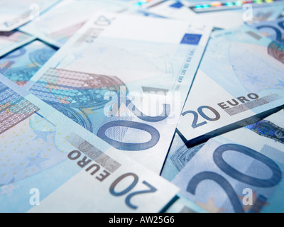 Twenty euro notes - Stock Photo