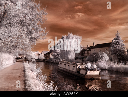 Canal Boat, Lymm - Stock Photo