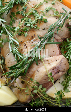 A Sunday Roast about to go into the oven - Stock Photo