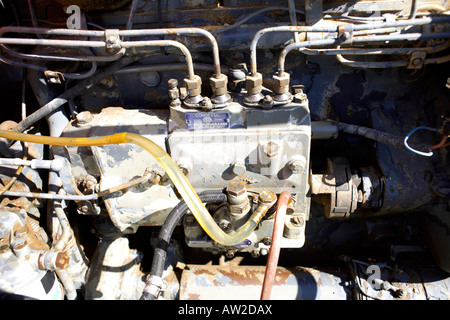 Condiesel diesel fuel injection pump on an old Barreiros Diesel S A engine - Stock Photo