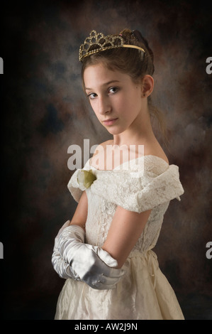 close up portrait of young girl with tierra - Stock Photo